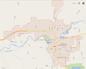 Picture of Delta Colorado real estate boundaries