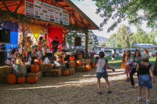 Dancing at Harvest Fest